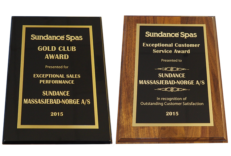 "Prisene ""Gold Club Award -2015"" og ""Exceptional Customer Service Award - 2015""."