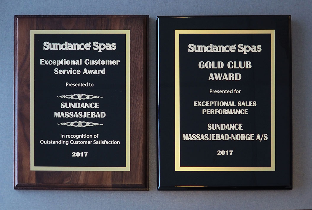 Gold Club award og Service award 2017